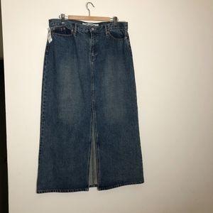 NWT Gap Stretch Denim Long Modest Maxi Skirt ~16